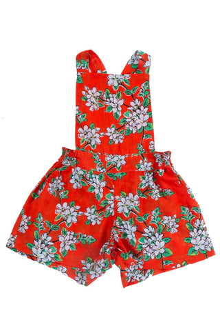 delphine playsuit paprika rose embroidery