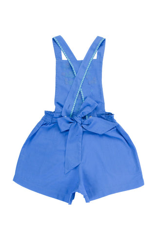 pomme sunsuit periwinkle with colour hand stitch