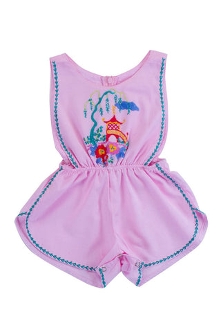 poet sunsuit rose with pagoda hand stitch