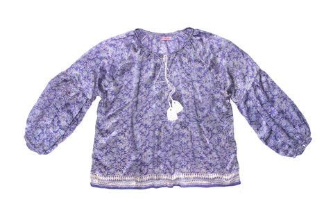 Shelley Blouse Purple Silk - Mama - online exclusive