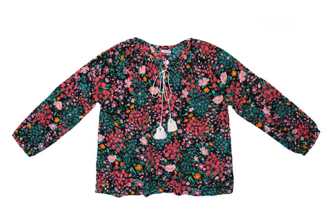Shelley Blouse Paris Gypsy Black - Mama -online exclusive