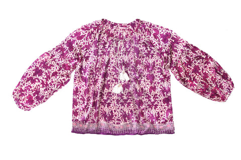 Shelley Blouse Lilac Silk - Mama - online exclusive