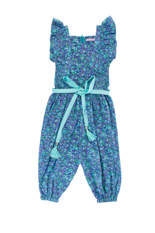 wilde playsuit blue wildflower