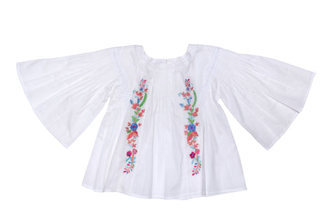 Delphine Playsuit Porcelain Indian Flowers