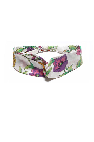 Head Band Porcelain Indian Flowers