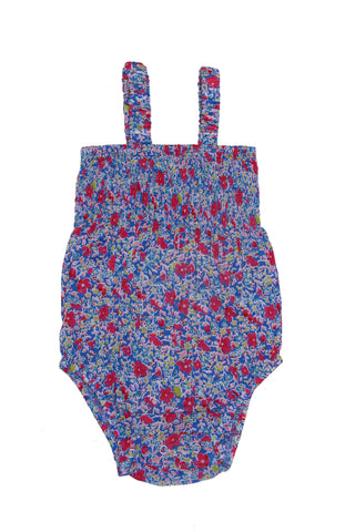 Delphine Sunsuit Porcelain Indian Flowers