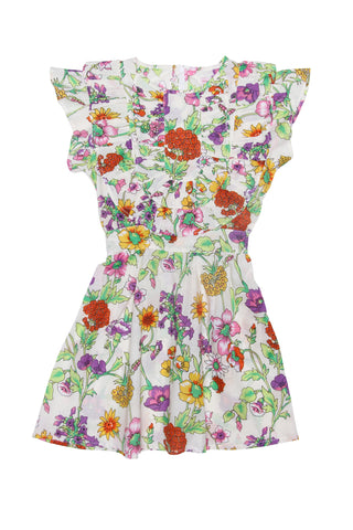 Celestia Dress Porcelain Indian Flowers