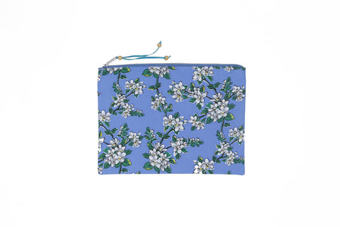 Beach Clutch - Blue Wild Flower
