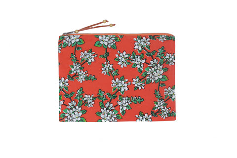 Beach Clutch - Paprika Almond Blossom