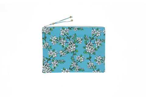 Beach Clutch - Seaglass Almond Blossom