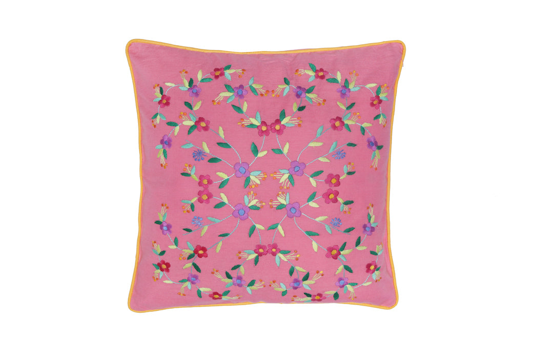 Cushion Cover  45 x 45 - Watermelon with Magnolia Hand stitch
