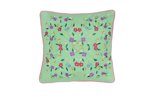 Cushion Cover  45 x 45 - Cerise Magnolia Hand stitch