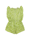 Delphine Playsuit Lime Silk - Online Exclusive