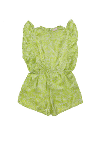 Delphine Playsuit Mint with Embroidery