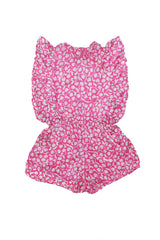 Delphine Playsuit Pink Multi Silk - Online Exclusive