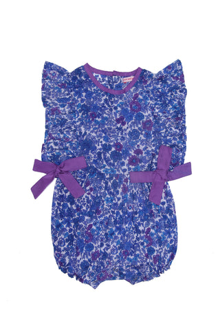 Camille Sunsuit Blue Aster with Orchid
