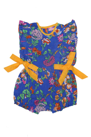 Sadie Sunsuit Ruby with Hand Embroidery