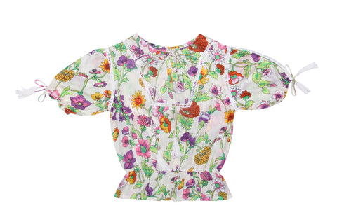 Maya Blouse Stone Dogwood Rose