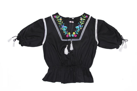 Delphine Blouse Paris Gypsy Black (Tween/Teen)