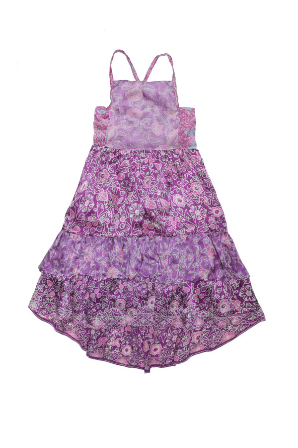 lilac dress purple batik silk - online exclusive
