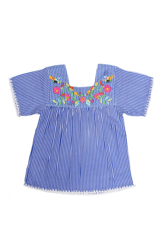 Mirabelle Blouse Stripe with Hand Stitch (Stealing Beauty)
