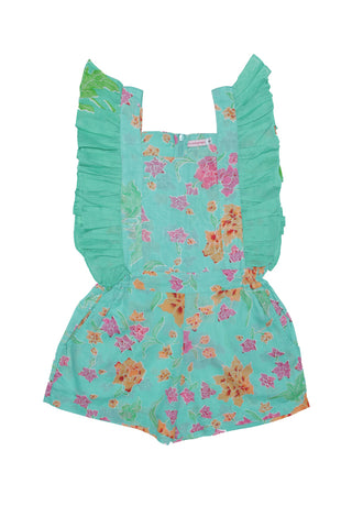 tulip playsuit Jade flower batik