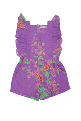 tulip playsuit Purple batik
