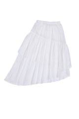 Vida Maxi Skirt Eggshell with Lace