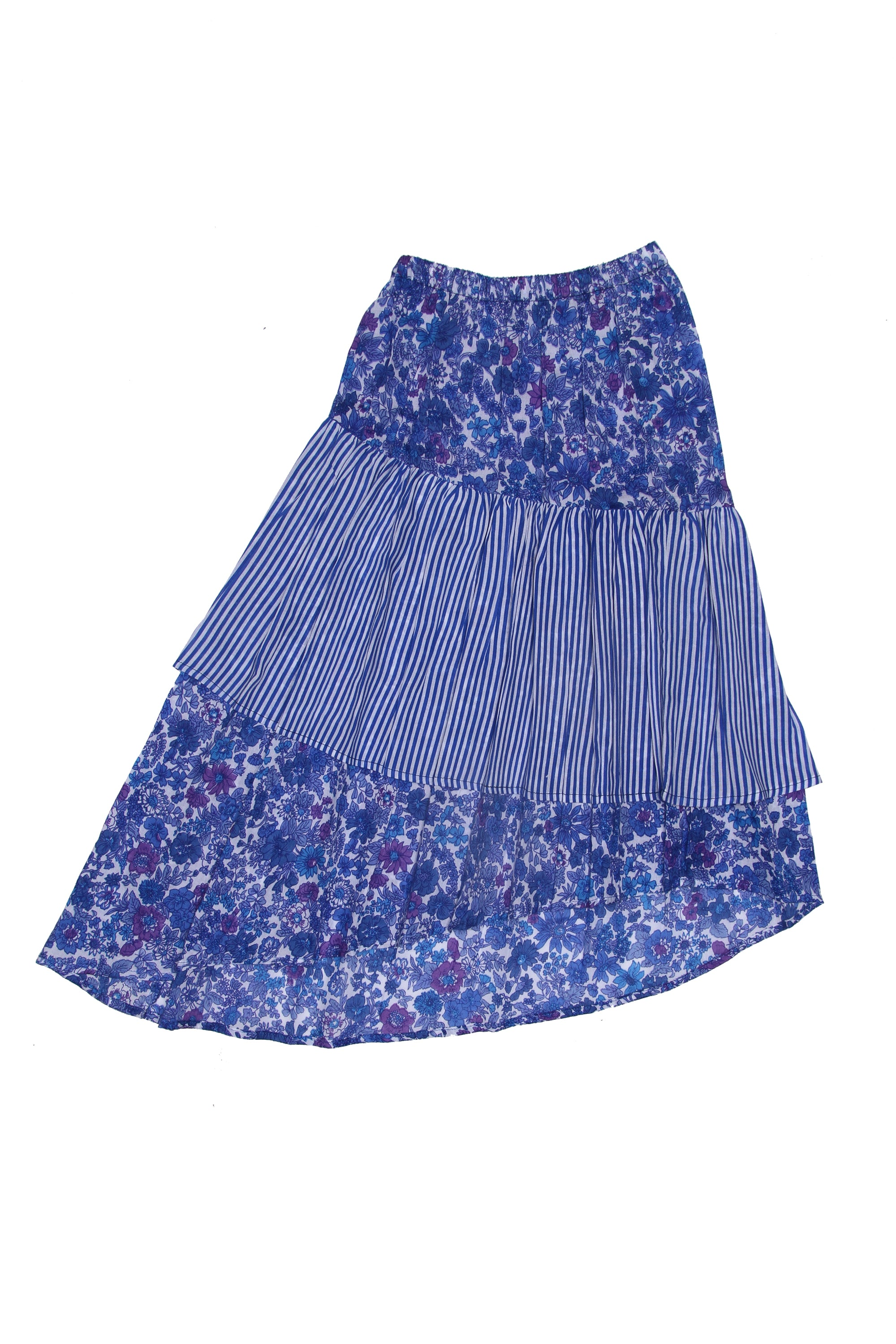 Vida Maxi Skirt Blue Aster Stripe