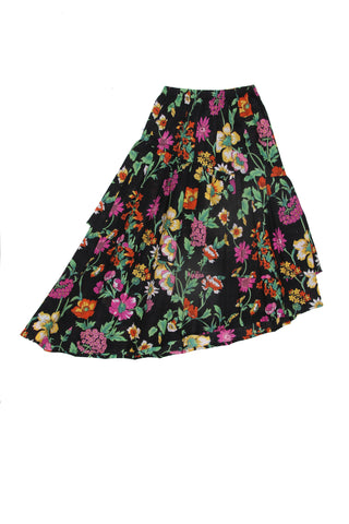 Vida Maxi Skirt Midnight Fiore