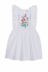 Viola Dress Eggshell with Hand Stitch