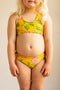 Racer Back Bikini Yellow Dogwood Rose
