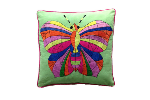Cushion Cover  45 x 45 - Apple with Butterfly Hand Stitch