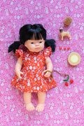 Doll - Lilas Dress Coral Harvest Flowers