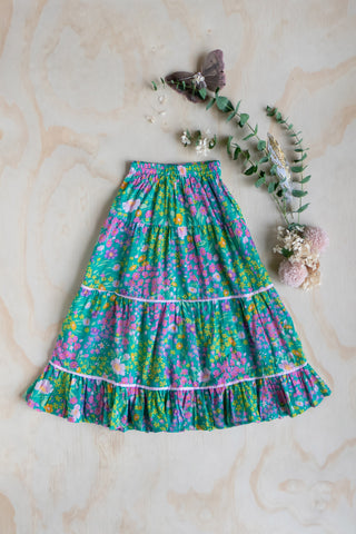 Violet Maxi Skirt Gypsy Paris Aqua