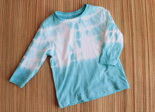 Aqua long sleeve tie dyed T. Size 1