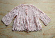 Hand knitted smock cardigan