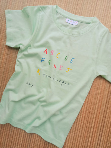 ABC elemenopee - Kids light green T