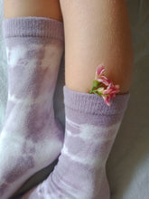 Lilac Mid Length Socks. Naturally dyed.