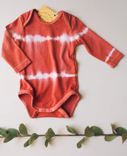 Neve long sleeve tie dyed romper 6-12 months