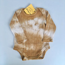 Plant dyed baby romper. Size 0-3 months