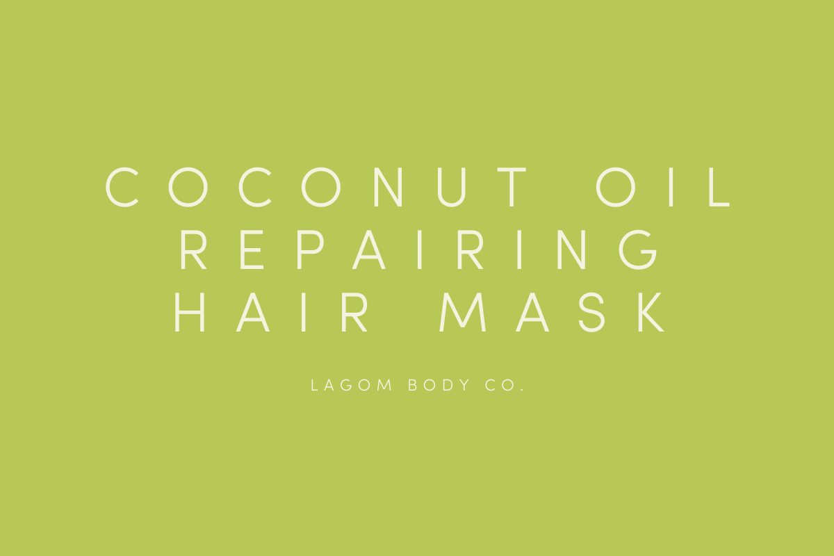 DIY Coconut oil repairing hair mask recipe