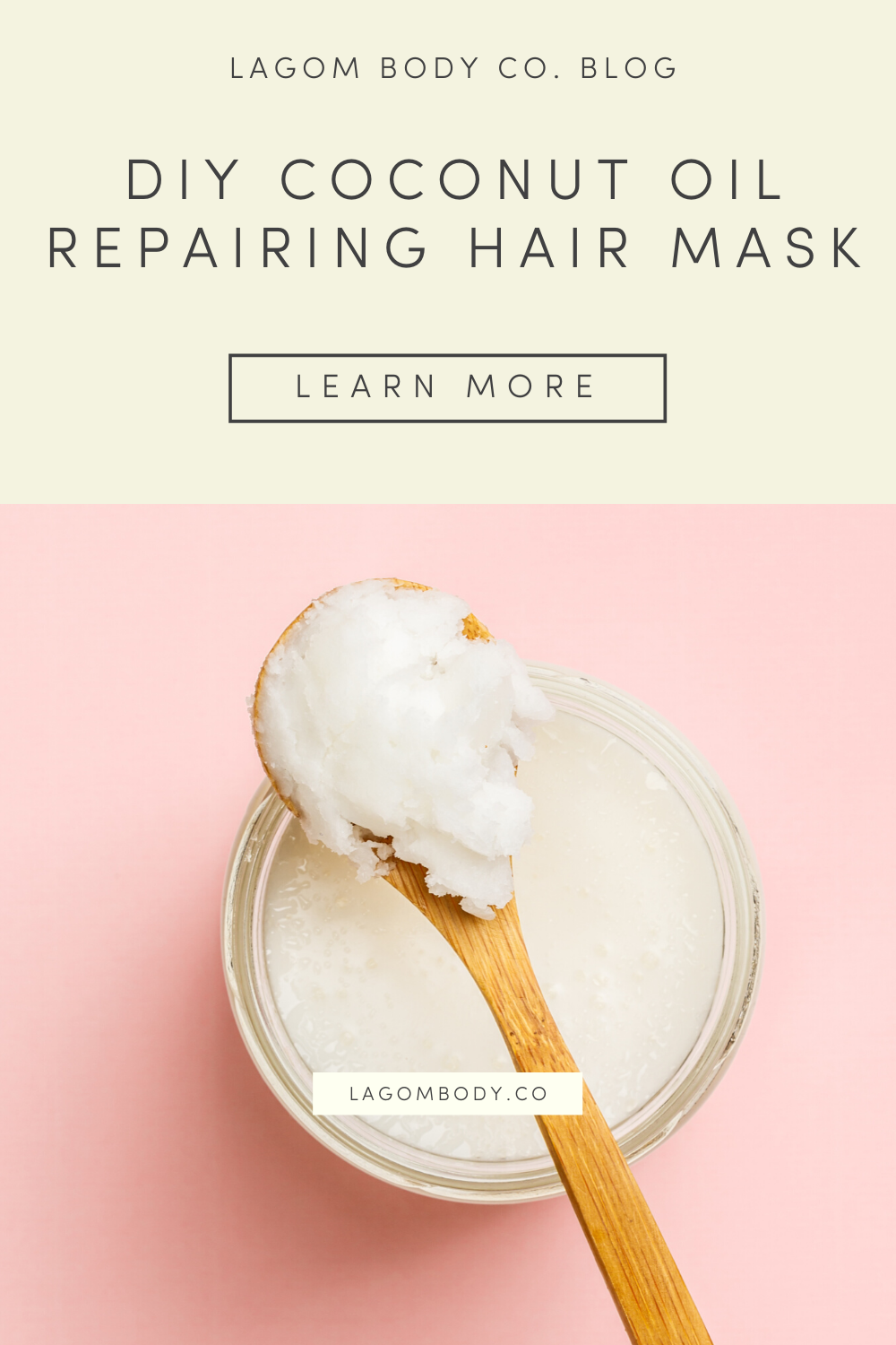 DIY Coconut Oil Repairing Hair Mask Promo