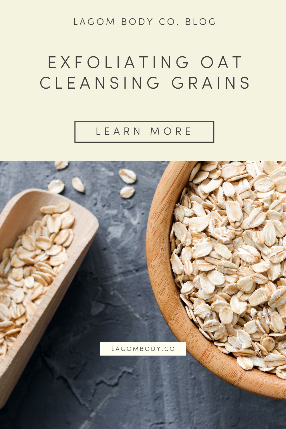 Exfoliating Oat Cleansing Grains Recipe - Quarantine Self-Care Pinterest Promo