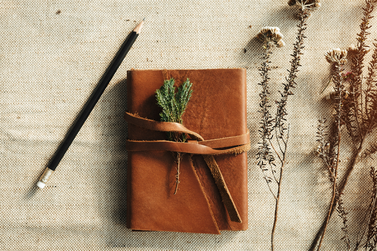 Organic journal and pencil