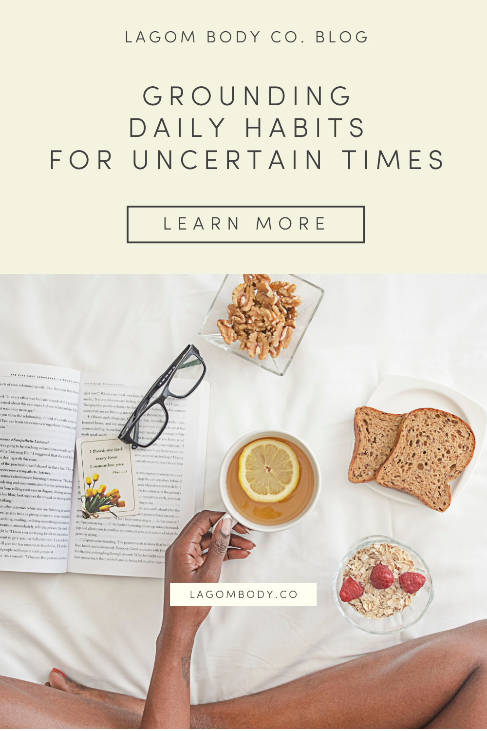 Grounding Daily Habits For Uncertain Times Pinterest Promo Image