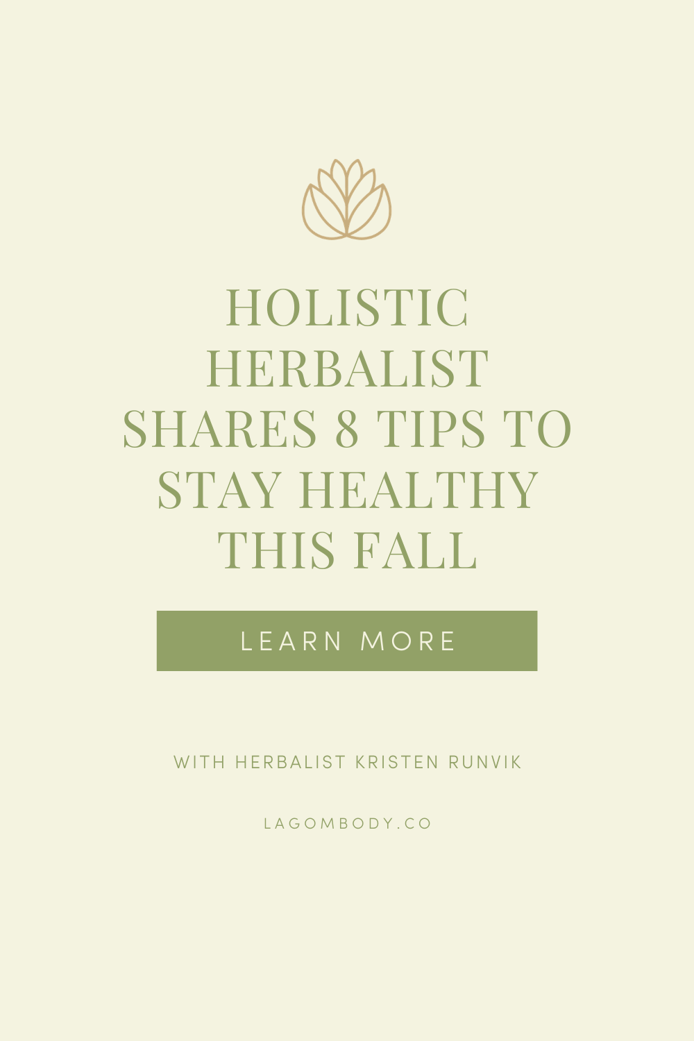 Holistic Herbalist Shares 8 Tips To Stay Healthy This Fall