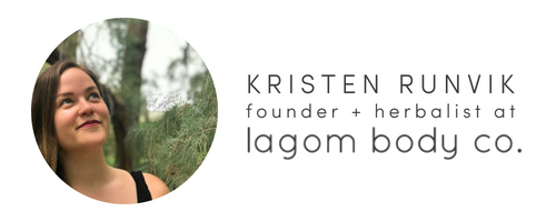 KRISTEN RUNVIK, FOUNDER AND HERBALIST OF LAGOM BODY CO - IMAGE