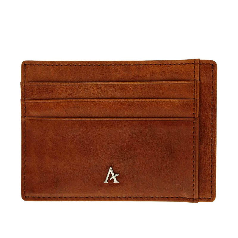 Leather XL Card Holder (Natural) - Affluent