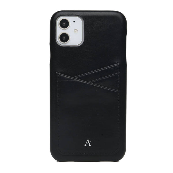 Leather Card Slot iPhone 11 Case (Natural) - Affluent